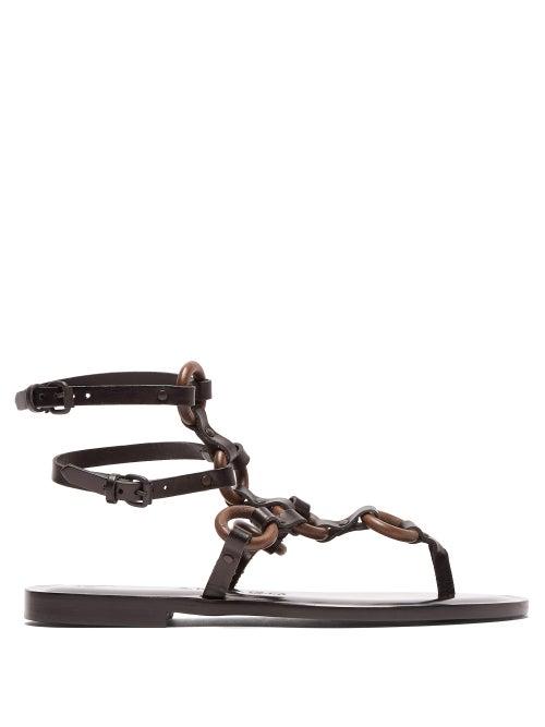 Álvaro Andorra Leather Gladiator Sandals OnceOff