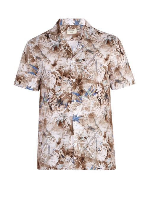 Éditions M.R Tahiti Print Short Sleeve Cotton Shirt OnceOff