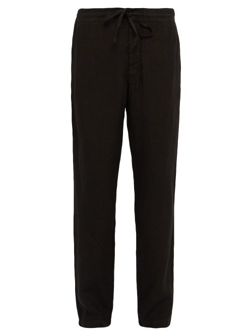 120% Lino Mid Rise Linen Trousers OnceOff