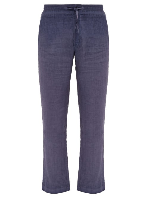 120% Lino Straight Leg Linen Trousers OnceOff
