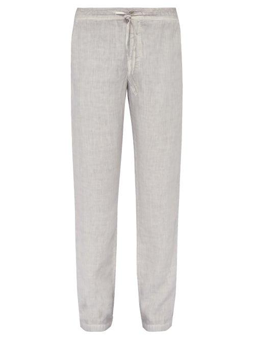120% Lino Wide Leg Linen Trousers OnceOff