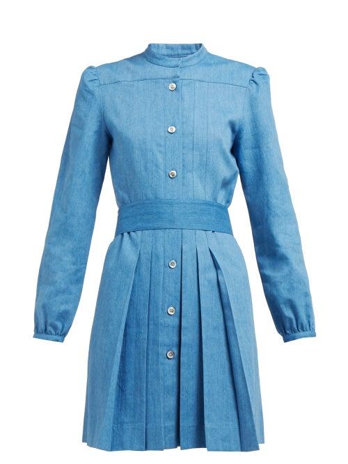 A.P.C. Alba Pleated Denim Dress OnceOff