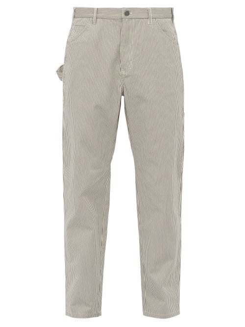 A.P.C. Job Striped Cotton Blend Trousers OnceOff