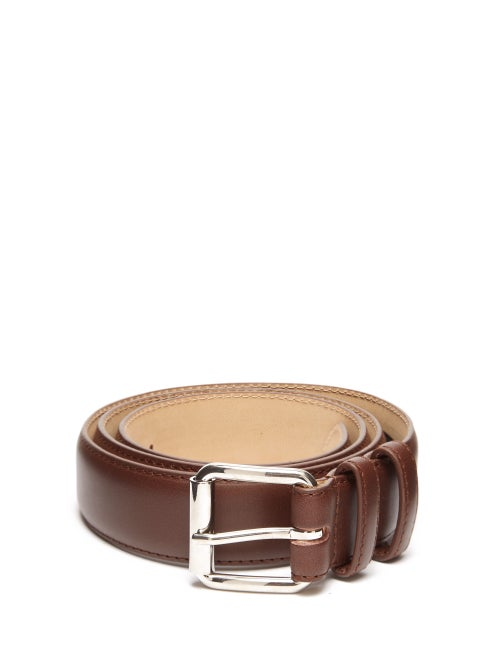 A.P.C. Topstitched Leather Belt OnceOff