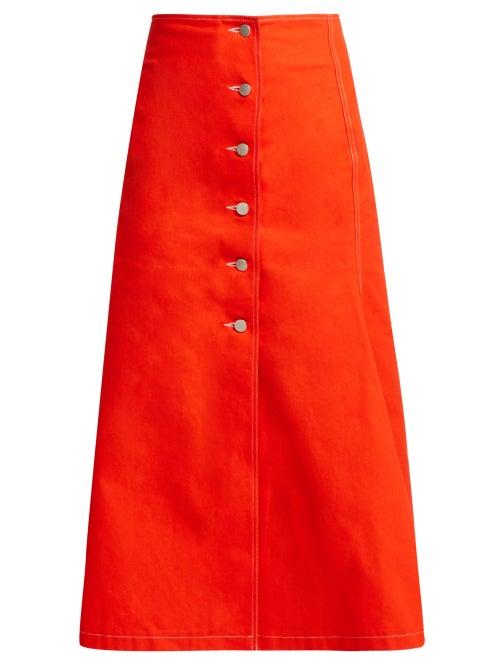 A.W.A.K.E. Mode Buttoned Cotton Skirt OnceOff