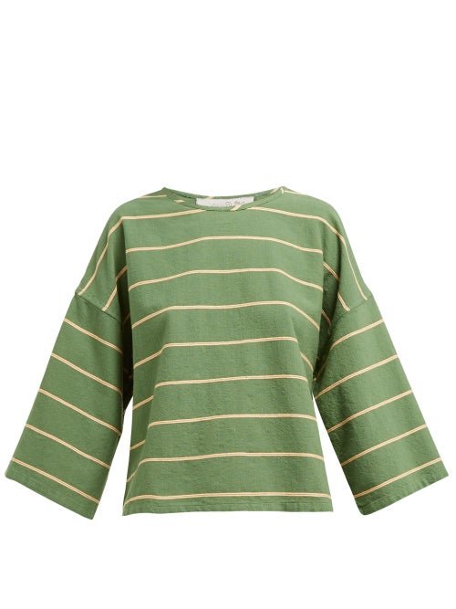 Ace & Jig Flared Sleeve Boat Neck Cotton Top OnceOff