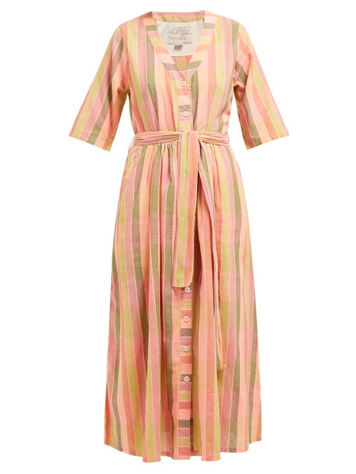 Ace & Jig Leelee Striped Cotton Midi Dress OnceOff