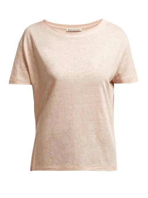 Acne Studios Eldora Linen T Shirt OnceOff