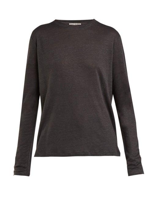 Acne Studios Taline Long Sleeved Linen T Shirt OnceOff