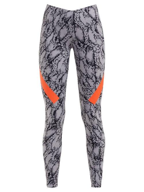 Adidas By Stella Mccartney Alpha Snake Print Stretch Leggings OnceOff
