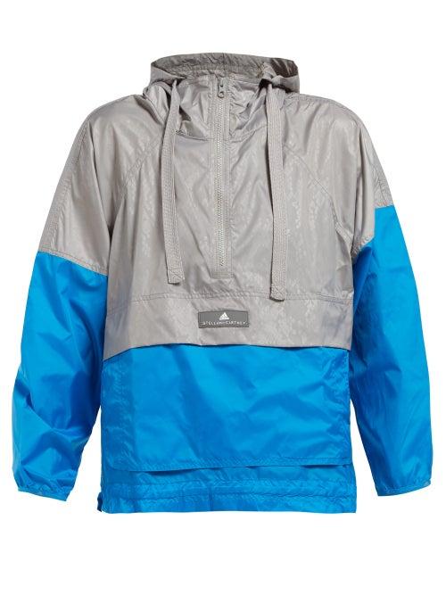 Adidas By Stella Mccartney Two Tone Hooded Windbreaker Jacket OnceOff