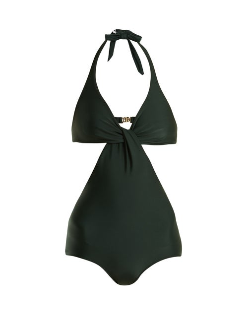 Adriana Degreas V Neck Cut Out Swimsuit OnceOff