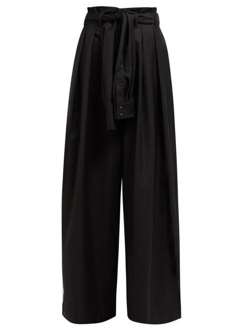 Aje Edward Tie Waist Wool Blend Trousers OnceOff