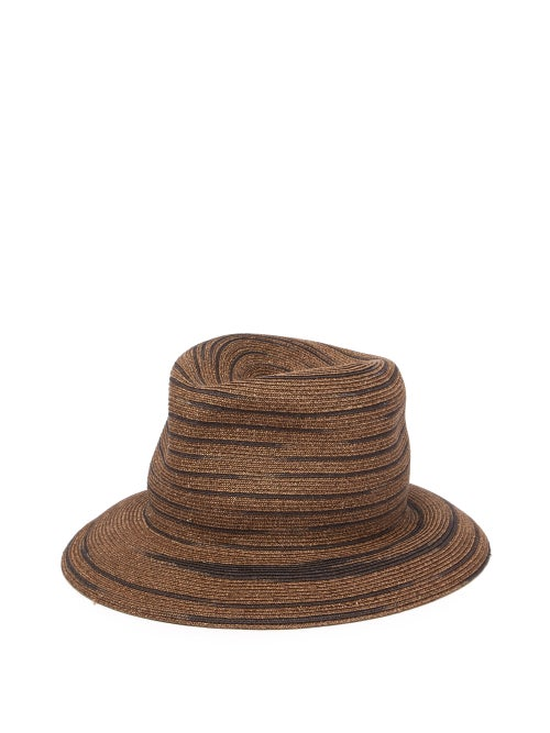 Albertus Swanepoel Bailey Straw Striped Panama Hat OnceOff