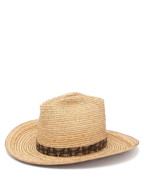 Albertus Swanepoel Cassidy Raffia Panama Hat OnceOff