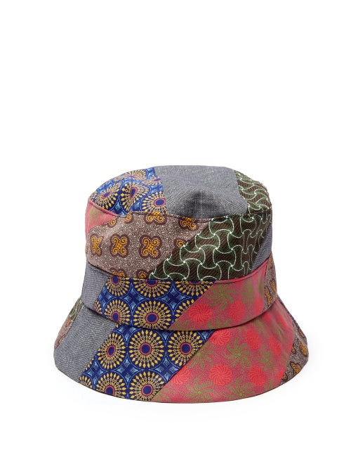 Albertus Swanepoel Patchwork Print Cotton Bucket Hat OnceOff