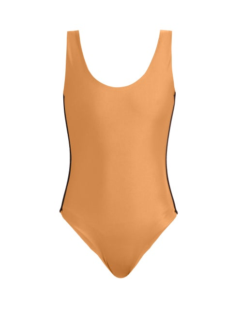 Albus Lumen Scoop Back Contrast Piping Swimsuit OnceOff