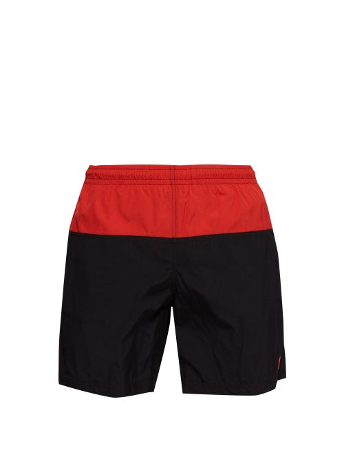 Alexander Mcqueen Colour Block Skull Embroidered Swim Shorts OnceOff