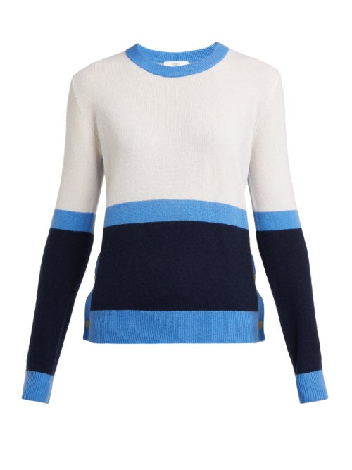 Allude Colour Block Cashmere Sweater OnceOff