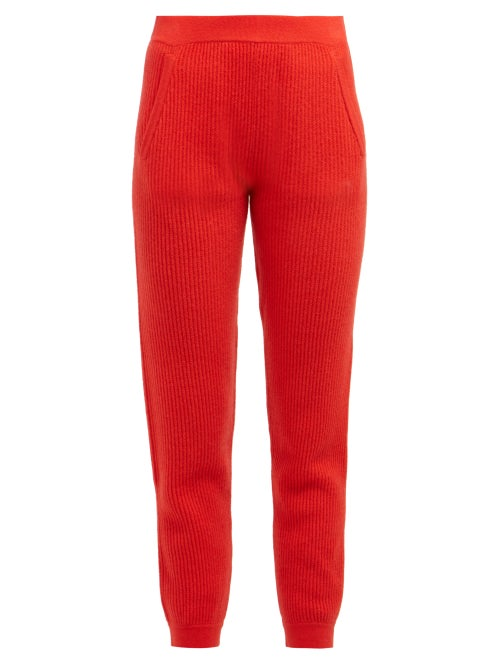 Allude Ribbed Knit Cashmere Track Pants OnceOff