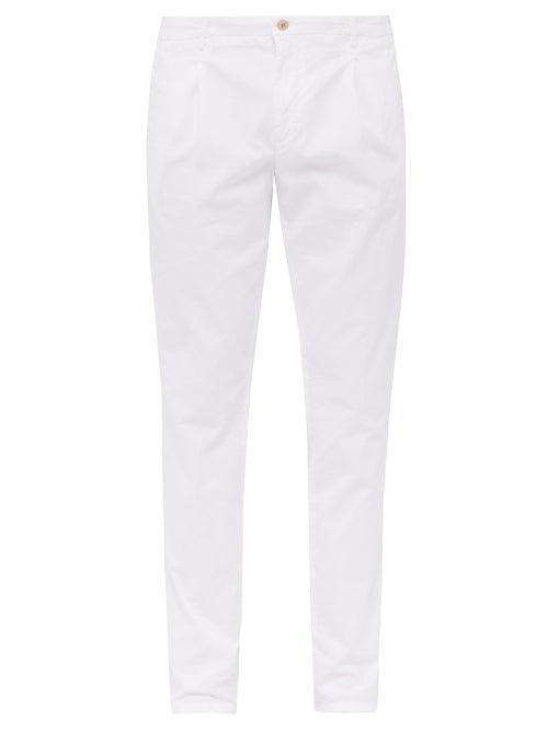 Altea Slim Leg Cotton Blend Chino Trousers OnceOff
