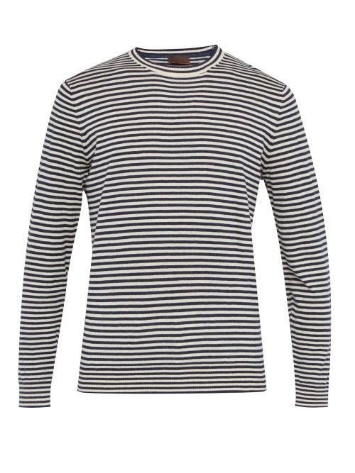 Altea Striped Linen Blend Sweater OnceOff