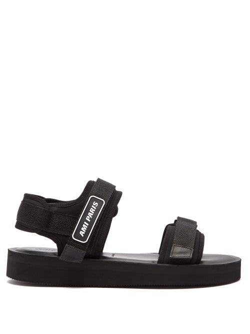 Ami Logo Neoprene And Canvas Sandals OnceOff