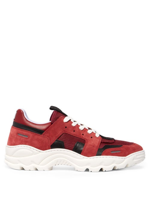 Ami Running Lucky 9 Suede And Mesh Trainers OnceOff