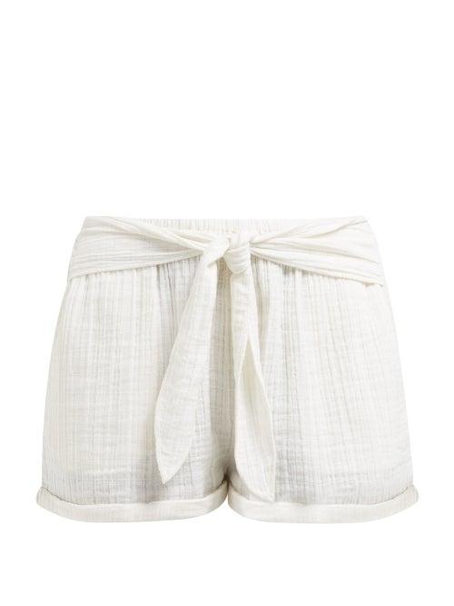 Anaak Maithili Tie Waist Cotton Shorts OnceOff