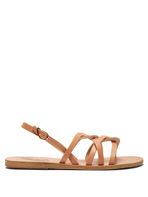 Ancient Greek Sandals Schinousa Entwining Leather Slingback Sandals OnceOff