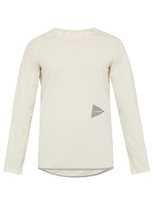 And Wander Logo Patch Raglan Jersey T Shirt OnceOff