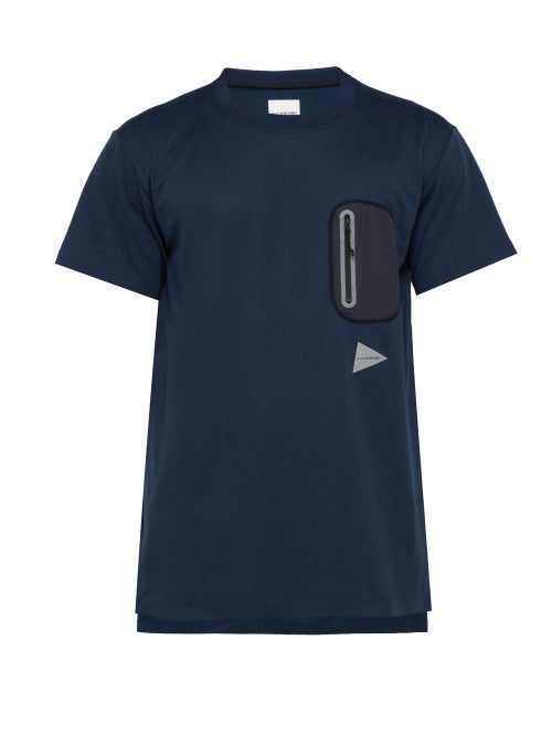 And Wander Logo Print Jersey T Shirt OnceOff