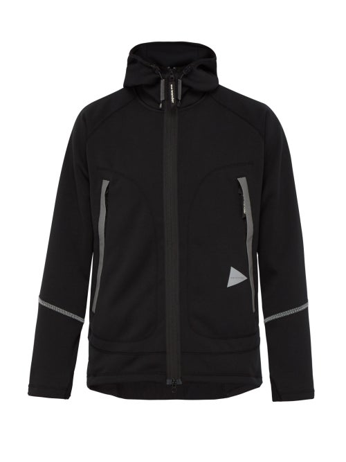 And Wander Uv Shield Technical Zip Through Hooded Jacket OnceOff
