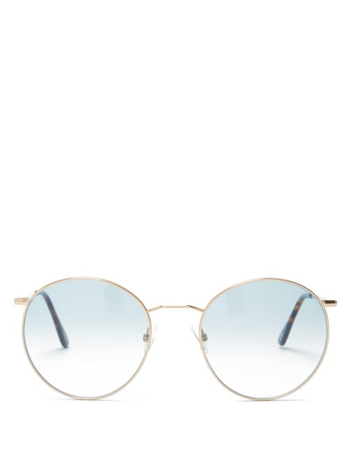Andy Wolf Amira Round Metal Sunglasses OnceOff