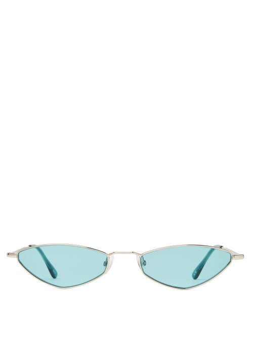 Andy Wolf Eliza Oval Metal Sunglasses OnceOff