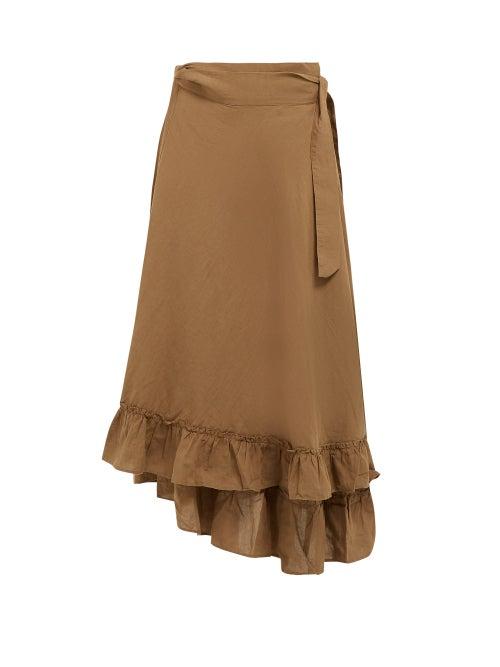 Apiece Apart Feliz Linen And Cotton Blend Wrap Skirt OnceOff