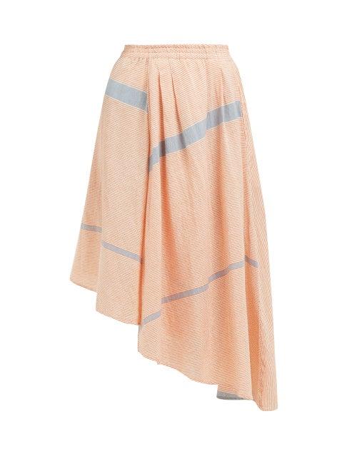 Apiece Apart Turkanna Striped Handkerchief Hem Cotton Skirt OnceOff