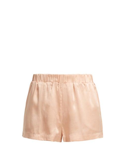 Asceno Sandwashed Silk Pyjama Shorts OnceOff