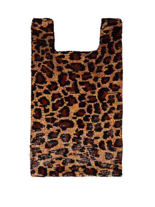 Ashish Leopard Sequin Embellished Cotton Tote OnceOff