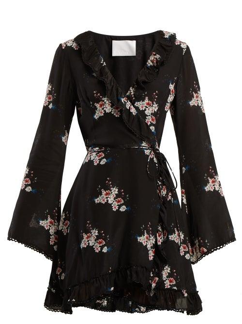 Athena Procopiou Floral Print Silk Dress OnceOff