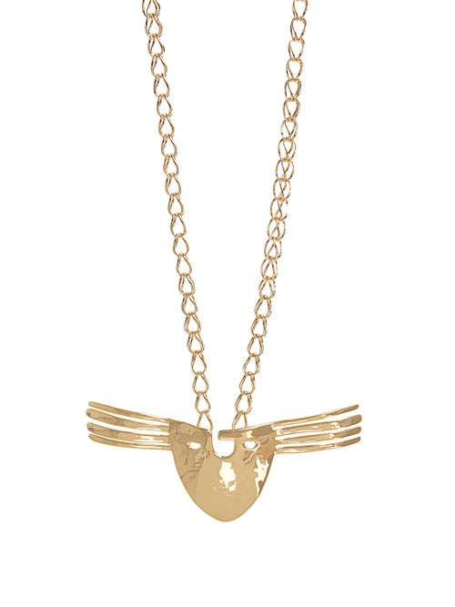 Aurélie Bidermann Melina Mask Gold Plated Necklace OnceOff
