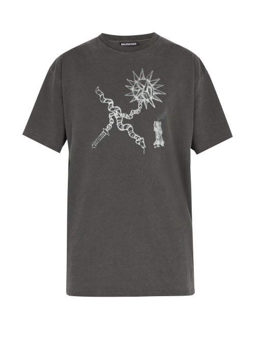 Balenciaga Goth Oversized Cotton T Shirt OnceOff