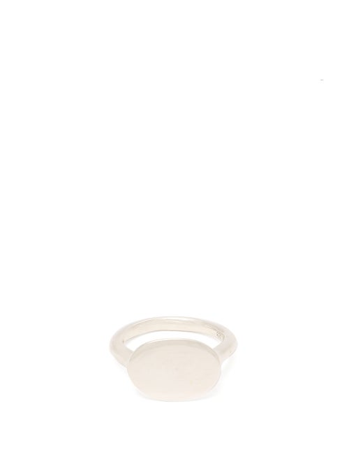 Biales Sterling Silver Oval Signet Ring OnceOff