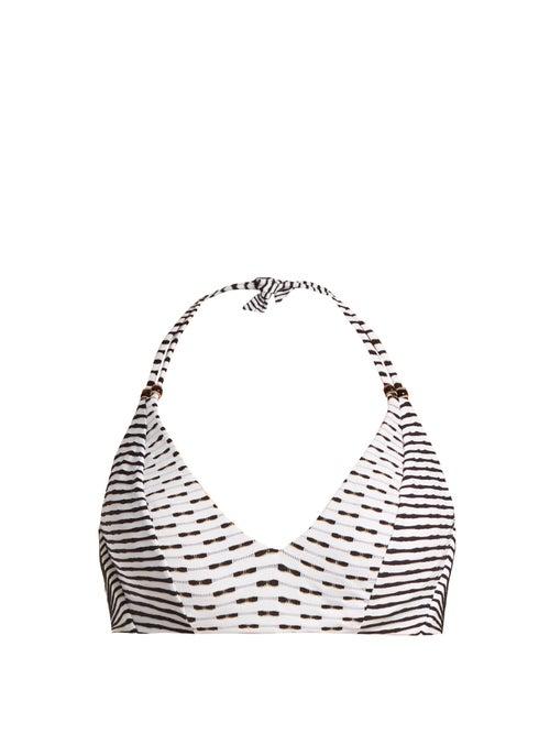 Biondi Casablanca Striped Halterneck Bikini Top OnceOff