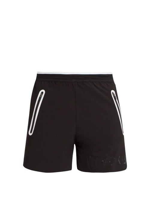 Blackbarrett By Neil Barrett Contrast Zip Water Repellent Shorts OnceOff