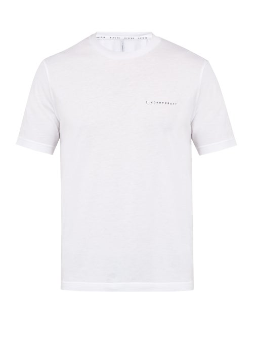 Blackbarrett By Neil Barrett Logo Print Cotton Blend T Shirt OnceOff