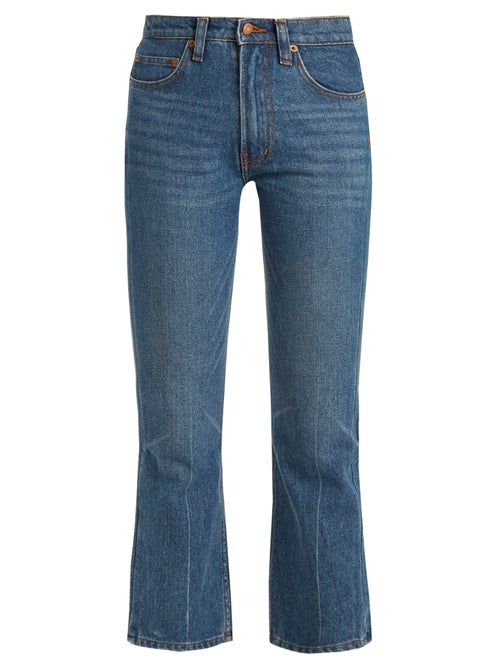 Bliss And Mischief Cowboy Fit Bootcut Cropped Jeans OnceOff