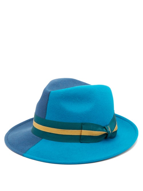 Borsalino Alessandria Two Tone Felt Hat OnceOff