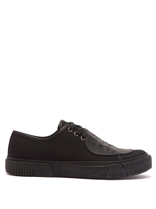 Both Rubber Patch Canvas Low Top Trainers OnceOff