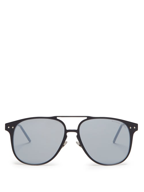 Bottega Veneta Aviator Metal Sunglasses OnceOff